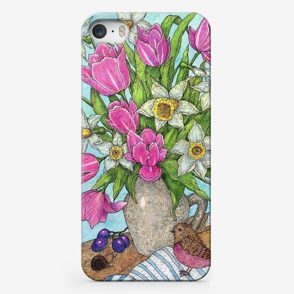 Чехол iPhone «Букет Тюльпанов и нарциссов»