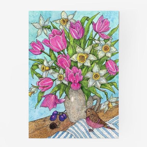 Постер «Букет Тюльпанов и нарциссов»