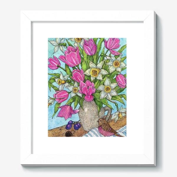 Картина «Букет Тюльпанов и нарциссов»
