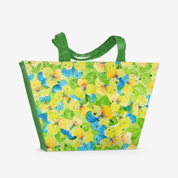 Пляжная сумка «Анютины глазки»