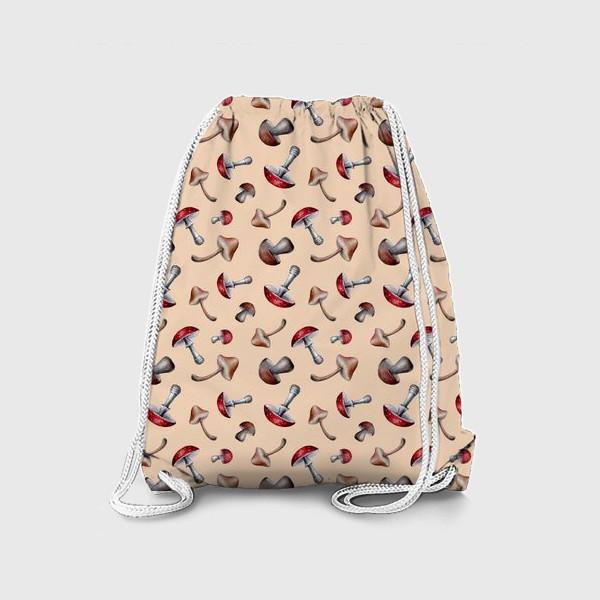 Рюкзак «Грибочки. Паттерн»