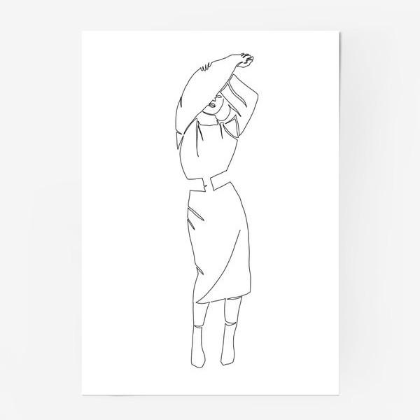 Постер «Девушка одной линией»