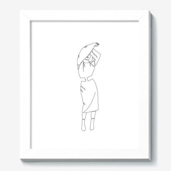 Картина «Девушка одной линией»