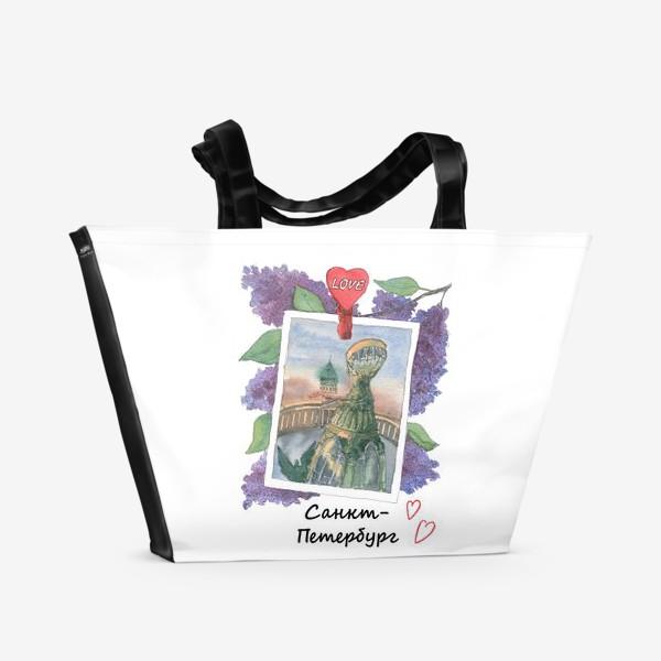 Пляжная сумка «Я люблю Питер»