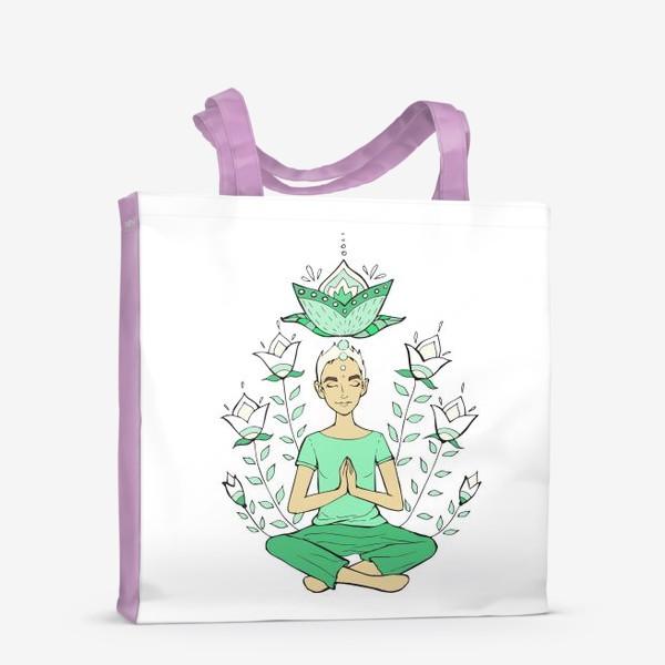 Сумка-шоппер «Йога. Медитация. Подарок йогу. »