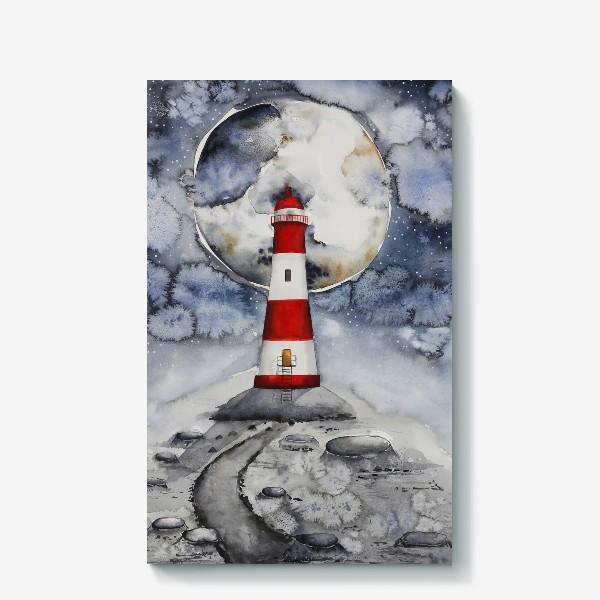 Холст «Маяк на Луне »