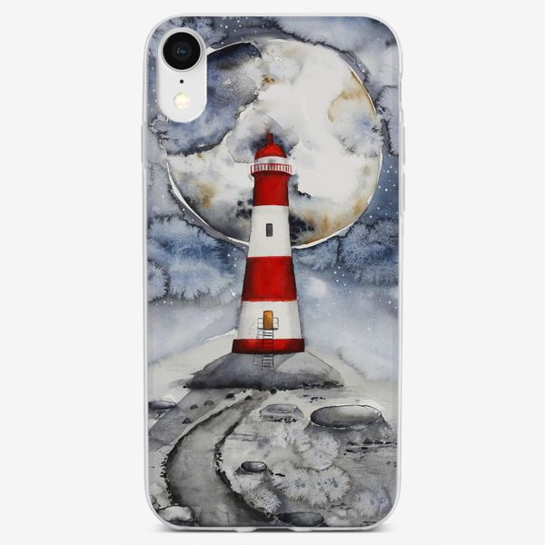 Чехол iPhone «Маяк на Луне »