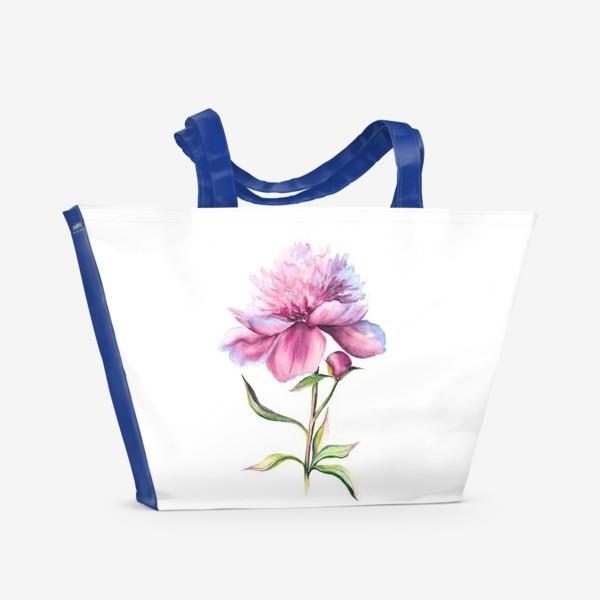 Пляжная сумка «Нежность пиона»