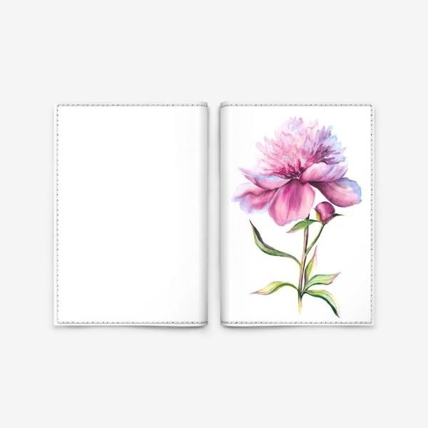 Обложка для паспорта «Нежность пиона»