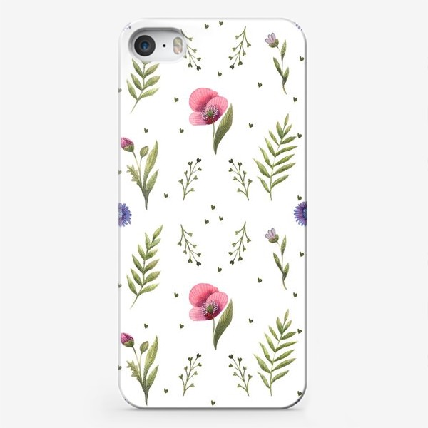 Чехол iPhone «Полевые цветы. Маки»