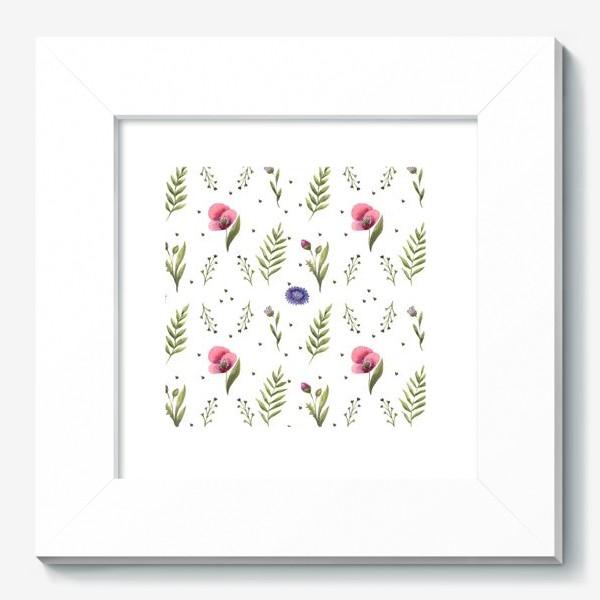 Картина «Полевые цветы. Маки»