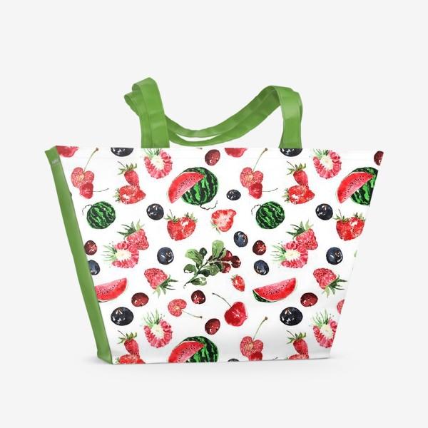 Пляжная сумка «Ягодный летний микс»