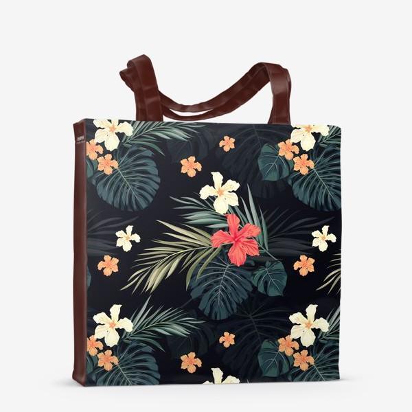Сумка-шоппер «Тропики и гибискусы»