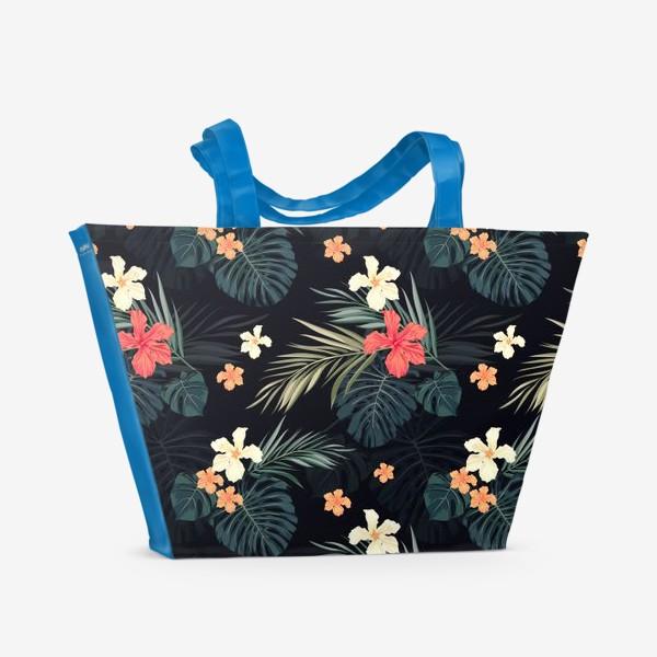 Пляжная сумка «Тропики и гибискусы»