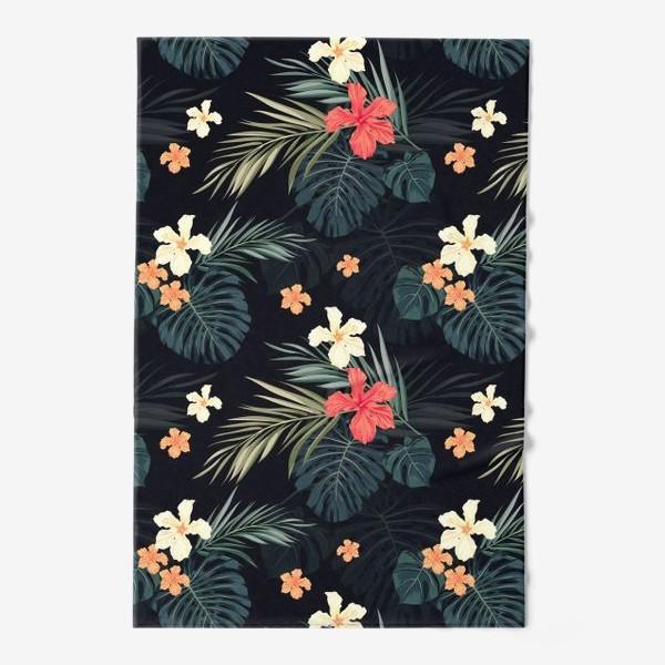 Полотенце «Тропики и гибискусы»