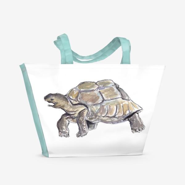 Пляжная сумка «Черепаха. Нас не догонишь...»