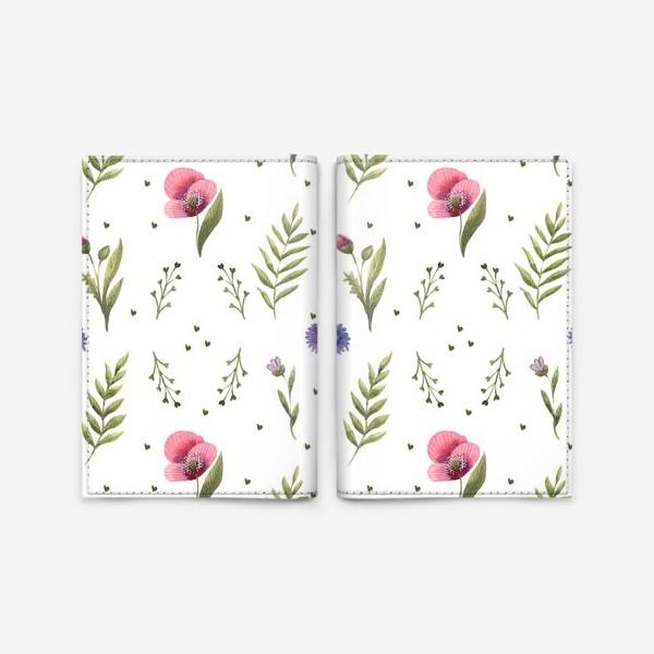 Обложка для паспорта «Полевые цветы. Маки»
