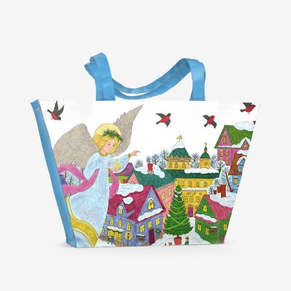 Пляжная сумка «Счастливого Рождества»