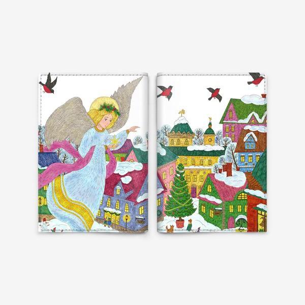 Обложка для паспорта «Счастливого Рождества»