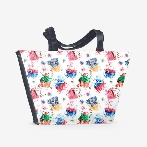 Пляжная сумка «Кексики»