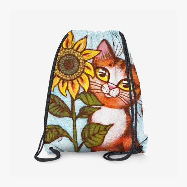 Рюкзак «Кошка и подсолнух»