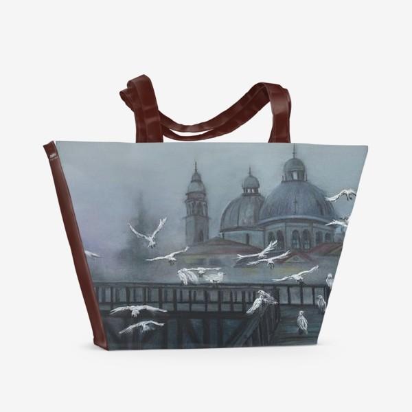 Пляжная сумка «Туманы и чайки»
