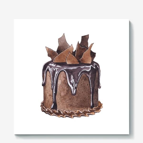 Холст «Шоколадный торт»