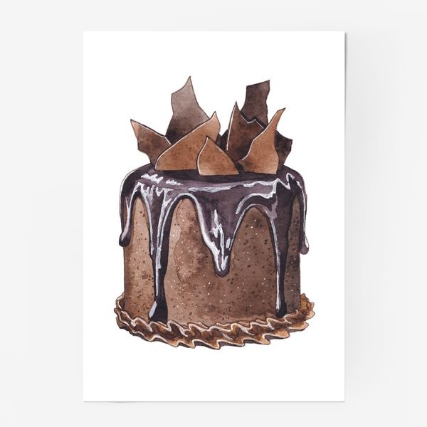 Постер «Шоколадный торт»
