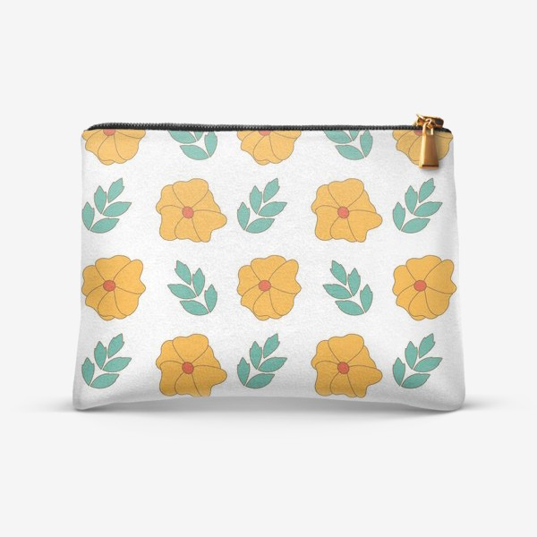 Косметичка «Оранжевые цветы»