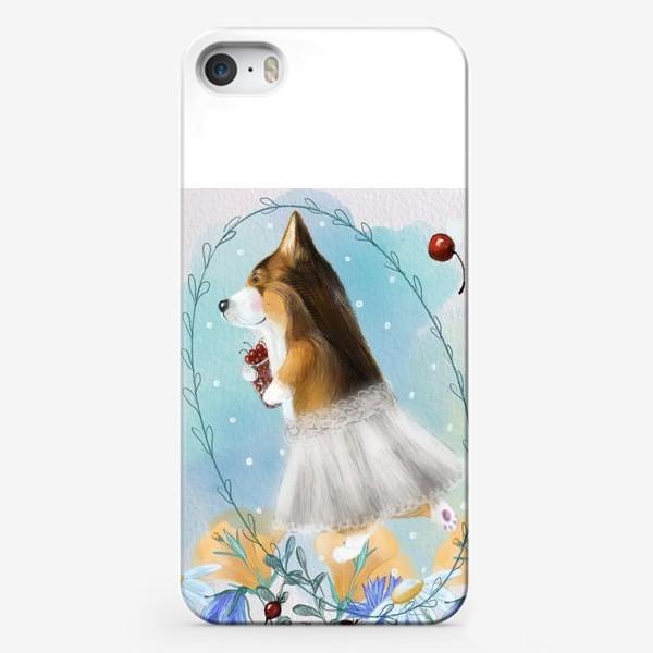 Чехол iPhone «летняя фея Корги»