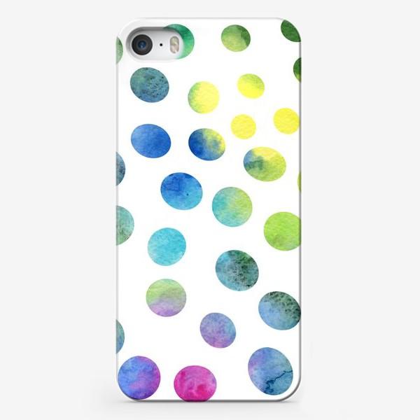 Чехол iPhone «Акварельные круги на белом фоне»