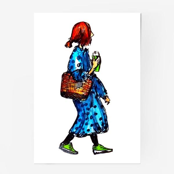 Постер «фэшн скетч»