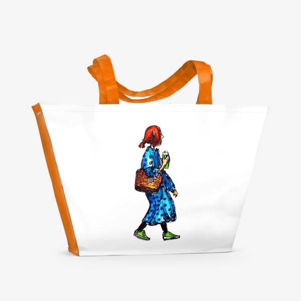 Пляжная сумка «фэшн скетч»