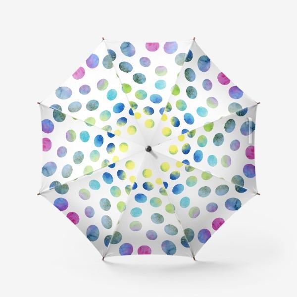 Зонт «Акварельные круги на белом фоне»