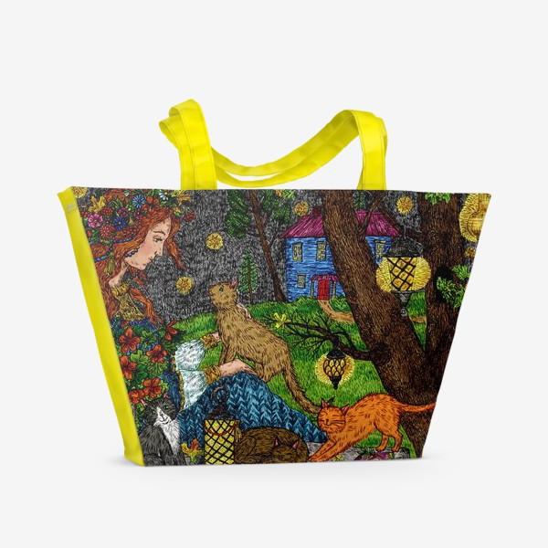 Пляжная сумка «Тайна осени»