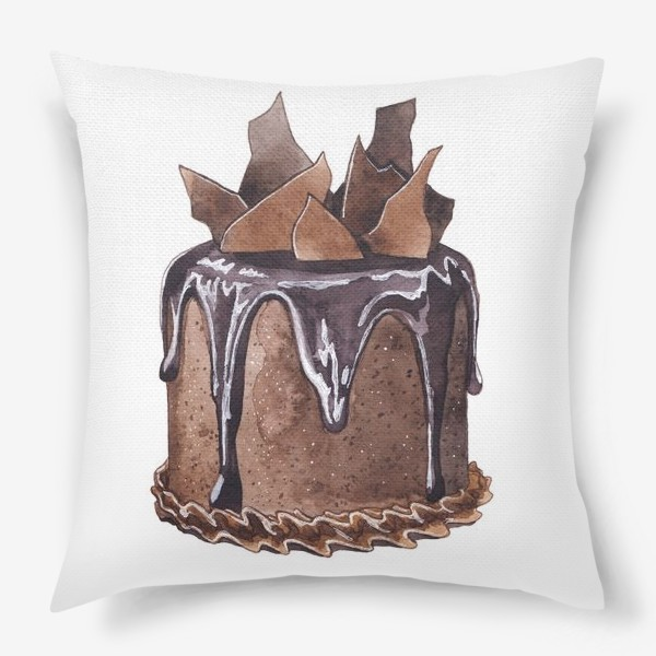 Подушка «Шоколадный торт»