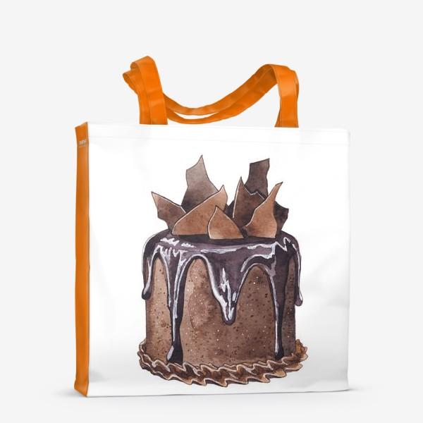 Сумка-шоппер «Шоколадный торт»