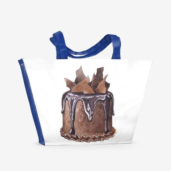 Пляжная сумка «Шоколадный торт»