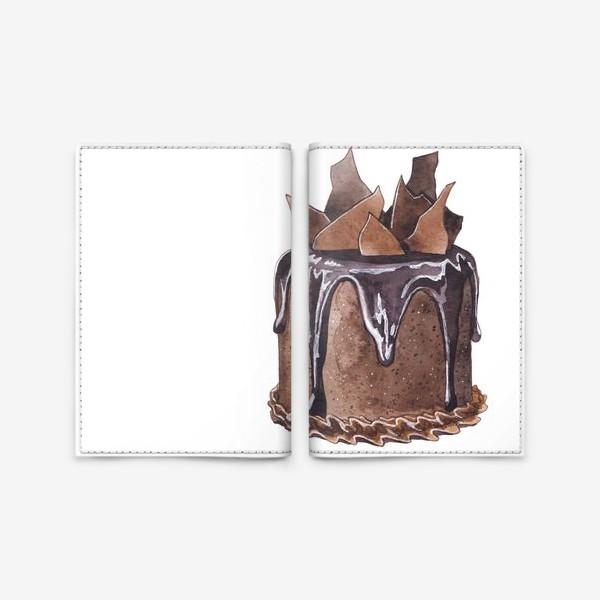 Обложка для паспорта «Шоколадный торт»