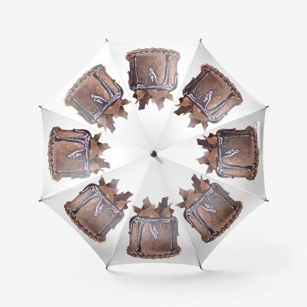 Зонт «Шоколадный торт»