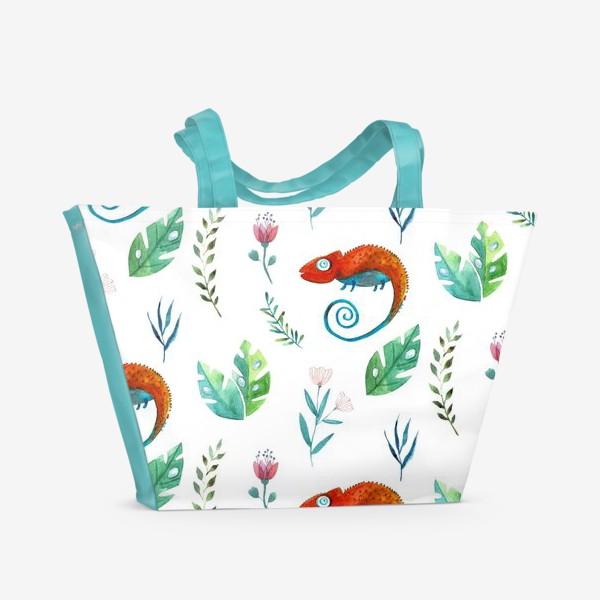 Пляжная сумка «Про хамелеона»