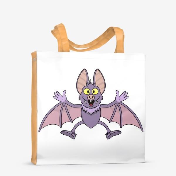 Сумка-шоппер «летучая мышь мультяшная»