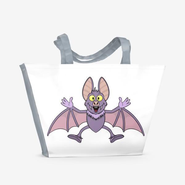 Пляжная сумка «летучая мышь мультяшная»
