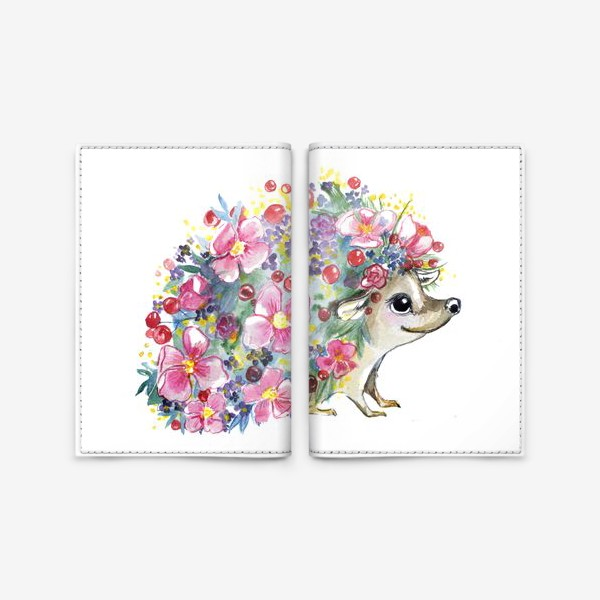 Обложка для паспорта «цветоёж»