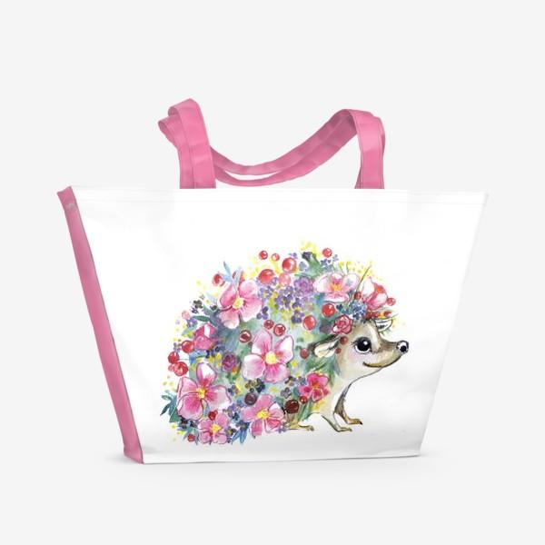 Пляжная сумка «цветоёж»