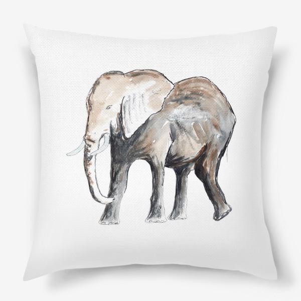 Подушка «Слон. Сильный и добрый.»