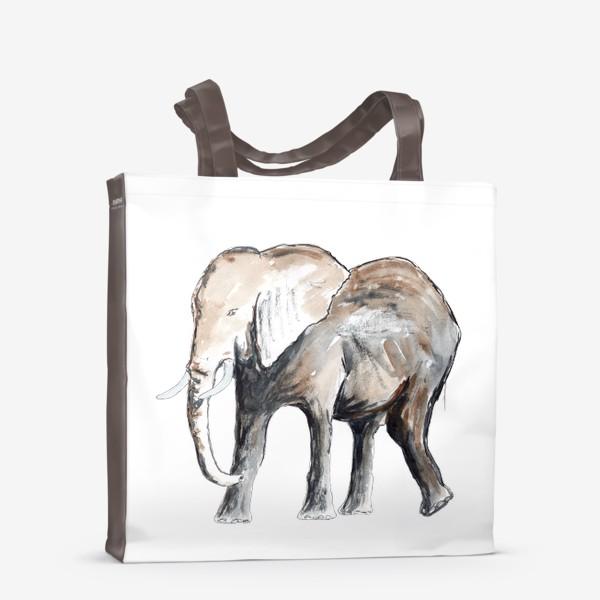 Сумка-шоппер «Слон. Сильный и добрый.»