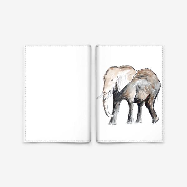 Обложка для паспорта «Слон. Сильный и добрый.»