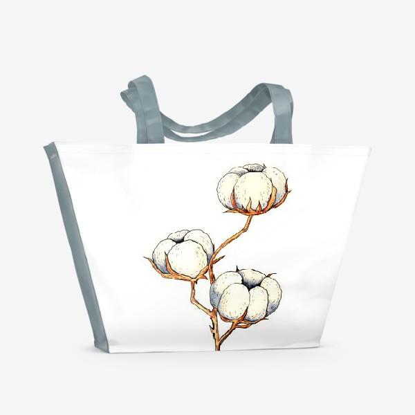 Пляжная сумка «БЕЛЫЙ ХЛОПОК»
