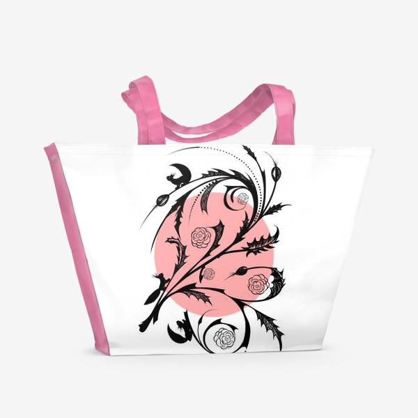 Пляжная сумка «БЕЛКИ НА ВЕТКЕ»
